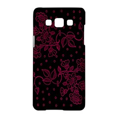 Pink Floral Pattern Background Samsung Galaxy A5 Hardshell Case