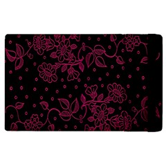 Pink Floral Pattern Background Apple Ipad Pro 12 9   Flip Case