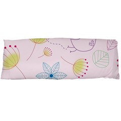 Pretty Summer Garden Floral Bird Pink Seamless Pattern Body Pillow Case (dakimakura)