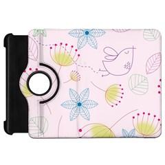 Pretty Summer Garden Floral Bird Pink Seamless Pattern Kindle Fire Hd 7