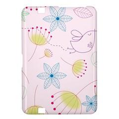 Pretty Summer Garden Floral Bird Pink Seamless Pattern Kindle Fire Hd 8 9