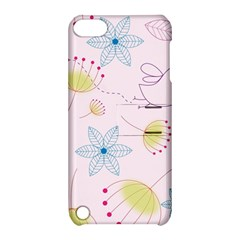 Pretty Summer Garden Floral Bird Pink Seamless Pattern Apple Ipod Touch 5 Hardshell Case With Stand
