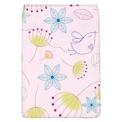 Pretty Summer Garden Floral Bird Pink Seamless Pattern Flap Covers (l)