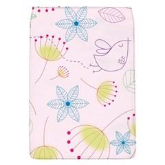 Pretty Summer Garden Floral Bird Pink Seamless Pattern Flap Covers (s)
