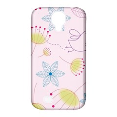 Pretty Summer Garden Floral Bird Pink Seamless Pattern Samsung Galaxy S4 Classic Hardshell Case (pc+silicone)