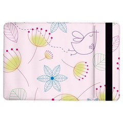 Pretty Summer Garden Floral Bird Pink Seamless Pattern Ipad Air Flip