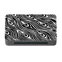Digitally Created Peacock Feather Pattern In Black And White Memory Card Reader With Cf