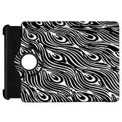 Digitally Created Peacock Feather Pattern In Black And White Kindle Fire Hd 7