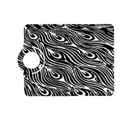 Digitally Created Peacock Feather Pattern In Black And White Kindle Fire Hd (2013) Flip 360 Case