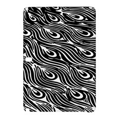 Digitally Created Peacock Feather Pattern In Black And White Samsung Galaxy Tab Pro 12 2 Hardshell Case