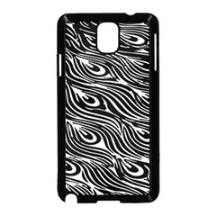 Digitally Created Peacock Feather Pattern In Black And White Samsung Galaxy Note 3 Neo Hardshell Case (black)