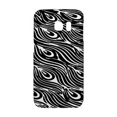 Digitally Created Peacock Feather Pattern In Black And White Galaxy S6 Edge