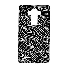 Digitally Created Peacock Feather Pattern In Black And White Lg G4 Hardshell Case