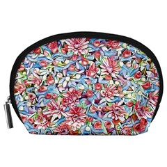 Lovely Floral 31f Accessory Pouches (large)