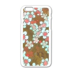 Lovely Floral 29 A Apple Iphone 6/6s White Enamel Case