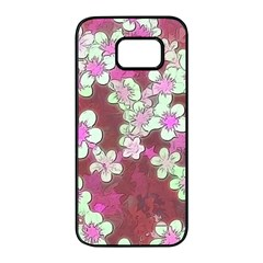 Lovely Floral 29 B Samsung Galaxy S7 Edge Black Seamless Case