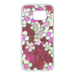 Lovely Floral 29 B Samsung Galaxy S7 Edge White Seamless Case