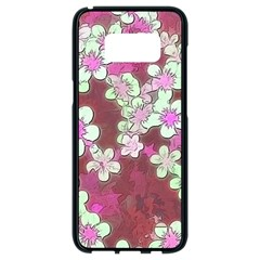 Lovely Floral 29 B Samsung Galaxy S8 Black Seamless Case