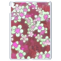 Lovely Floral 29 B Apple Ipad Pro 9 7   White Seamless Case