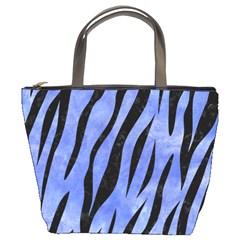 Skin3 Black Marble & Blue Watercolor (r) Bucket Bag