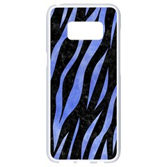 Skin3 Black Marble & Blue Watercolor Samsung Galaxy S8 White Seamless Case