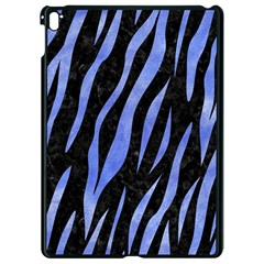 Skin3 Black Marble & Blue Watercolor Apple Ipad Pro 9 7   Black Seamless Case