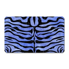 Skin2 Black Marble & Blue Watercolor (r) Magnet (rectangular)