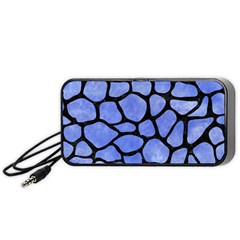Skin1 Black Marble & Blue Watercolor Portable Speaker (black)