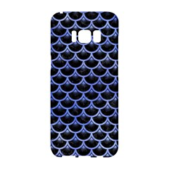 Scales3 Black Marble & Blue Watercolor Samsung Galaxy S8 Hardshell Case