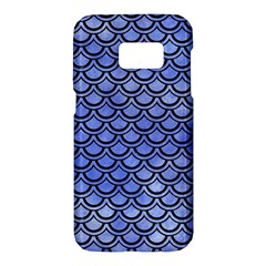 Scales2 Black Marble & Blue Watercolor (r) Samsung Galaxy S7 Hardshell Case
