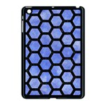 HEXAGON2 BLACK MARBLE & BLUE WATERCOLOR (R) Apple iPad Mini Case (Black) Front