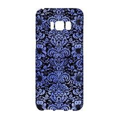 Damask2 Black Marble & Blue Watercolor Samsung Galaxy S8 Hardshell Case