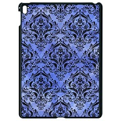 Damask1 Black Marble & Blue Watercolor (r) Apple Ipad Pro 9 7   Black Seamless Case