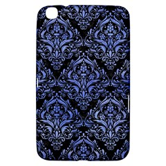 Damask1 Black Marble & Blue Watercolor Samsung Galaxy Tab 3 (8 ) T3100 Hardshell Case