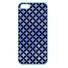 Circles3 Black Marble & Blue Watercolor (r) Apple Seamless Iphone 5 Case (color)