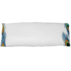 Beautiful Frame Made Up Of Blue Peacock Feathers Body Pillow Case Dakimakura (two Sides)