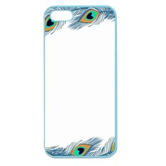 Beautiful Frame Made Up Of Blue Peacock Feathers Apple Seamless Iphone 5 Case (color)