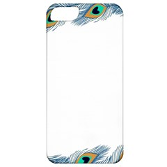 Beautiful Frame Made Up Of Blue Peacock Feathers Apple Iphone 5 Classic Hardshell Case