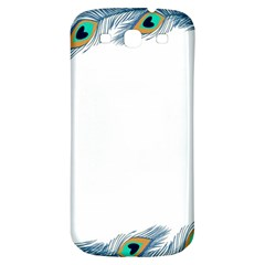 Beautiful Frame Made Up Of Blue Peacock Feathers Samsung Galaxy S3 S Iii Classic Hardshell Back Case