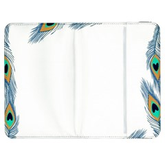 Beautiful Frame Made Up Of Blue Peacock Feathers Samsung Galaxy Tab 7  P1000 Flip Case
