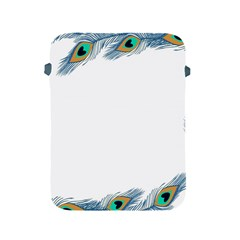 Beautiful Frame Made Up Of Blue Peacock Feathers Apple Ipad 2/3/4 Protective Soft Cases