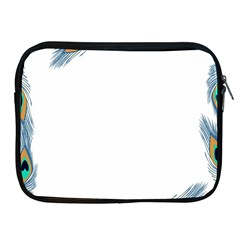 Beautiful Frame Made Up Of Blue Peacock Feathers Apple Ipad 2/3/4 Zipper Cases