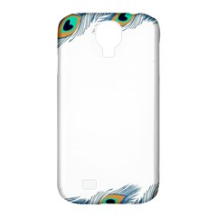 Beautiful Frame Made Up Of Blue Peacock Feathers Samsung Galaxy S4 Classic Hardshell Case (pc+silicone)