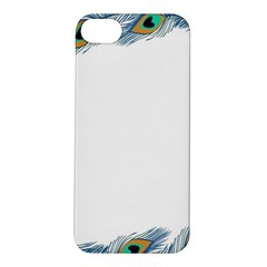 Beautiful Frame Made Up Of Blue Peacock Feathers Apple Iphone 5s/ Se Hardshell Case