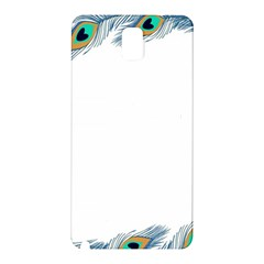 Beautiful Frame Made Up Of Blue Peacock Feathers Samsung Galaxy Note 3 N9005 Hardshell Back Case