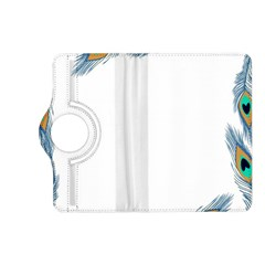 Beautiful Frame Made Up Of Blue Peacock Feathers Kindle Fire Hd (2013) Flip 360 Case