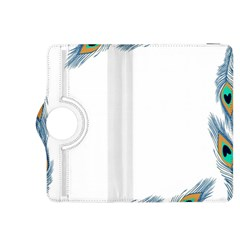 Beautiful Frame Made Up Of Blue Peacock Feathers Kindle Fire Hdx 8 9  Flip 360 Case