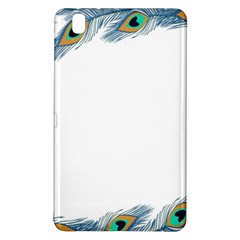 Beautiful Frame Made Up Of Blue Peacock Feathers Samsung Galaxy Tab Pro 8 4 Hardshell Case