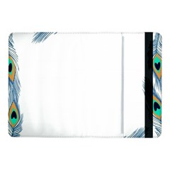 Beautiful Frame Made Up Of Blue Peacock Feathers Samsung Galaxy Tab Pro 10 1  Flip Case