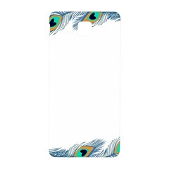 Beautiful Frame Made Up Of Blue Peacock Feathers Samsung Galaxy Alpha Hardshell Back Case
